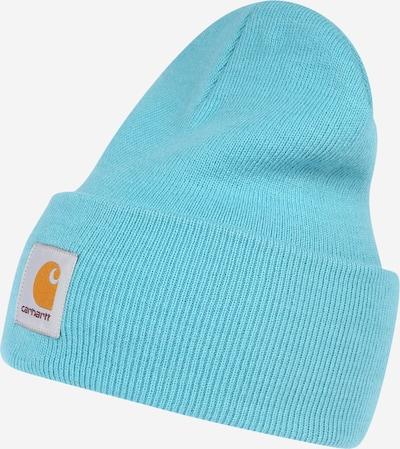 Carhartt WIP Bonnet en turquoise / orange / blanc, Vue avec produit