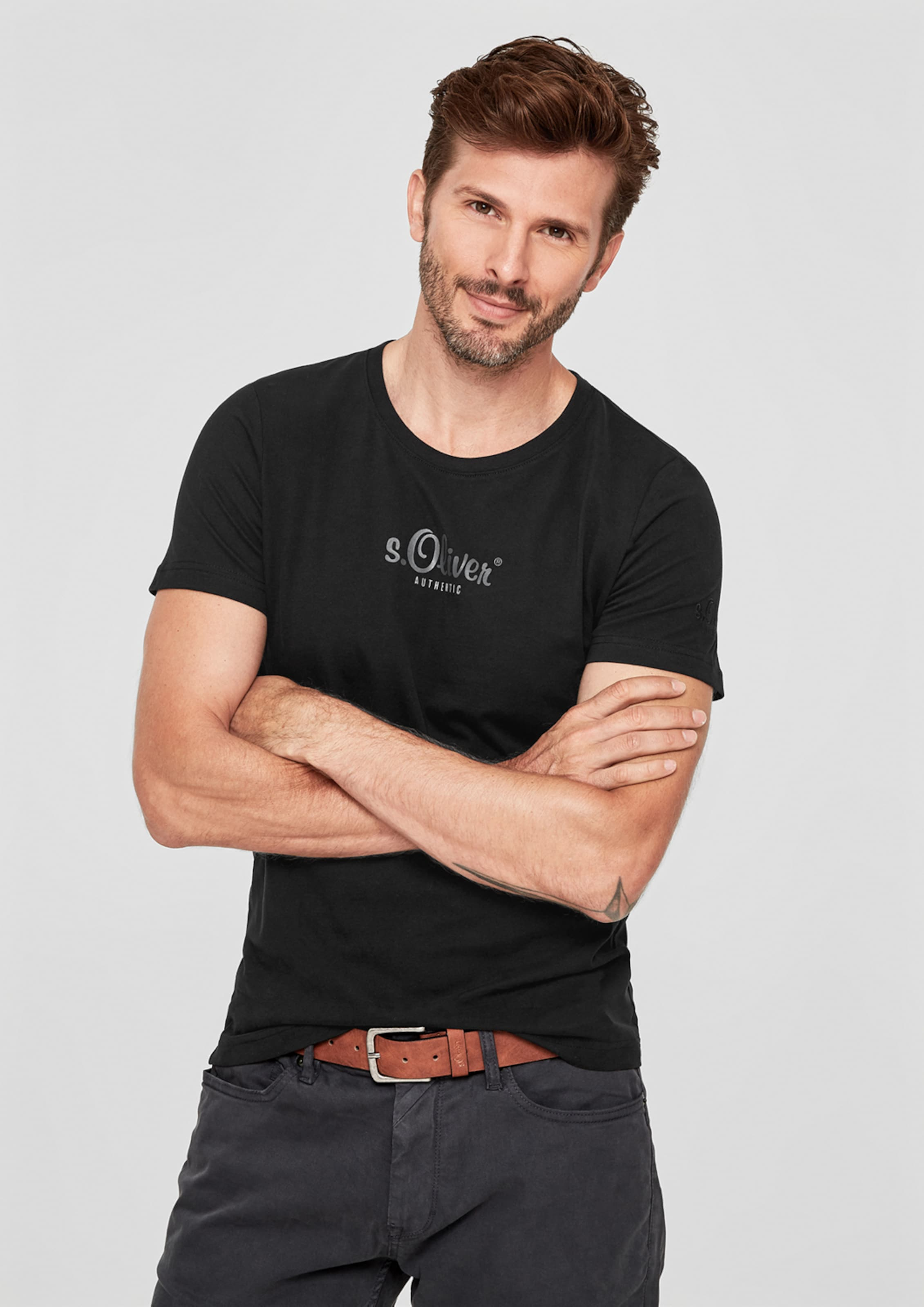 oliver S In 'authentic' T Schwarz shirt pqSVzUGLM