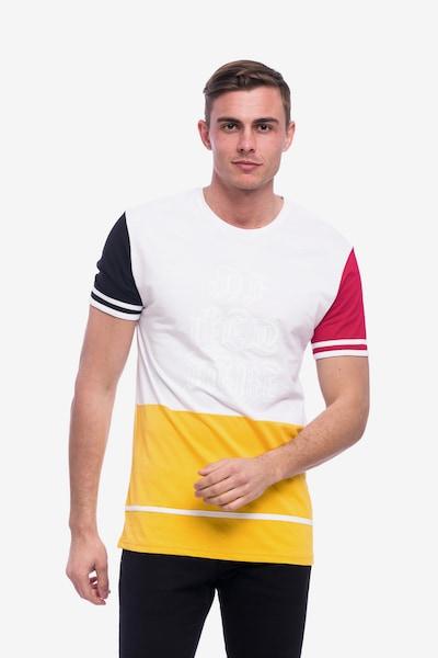Tom Barron Rundhalsshirt in gelb / rot / schwarz / weiß, Produktansicht