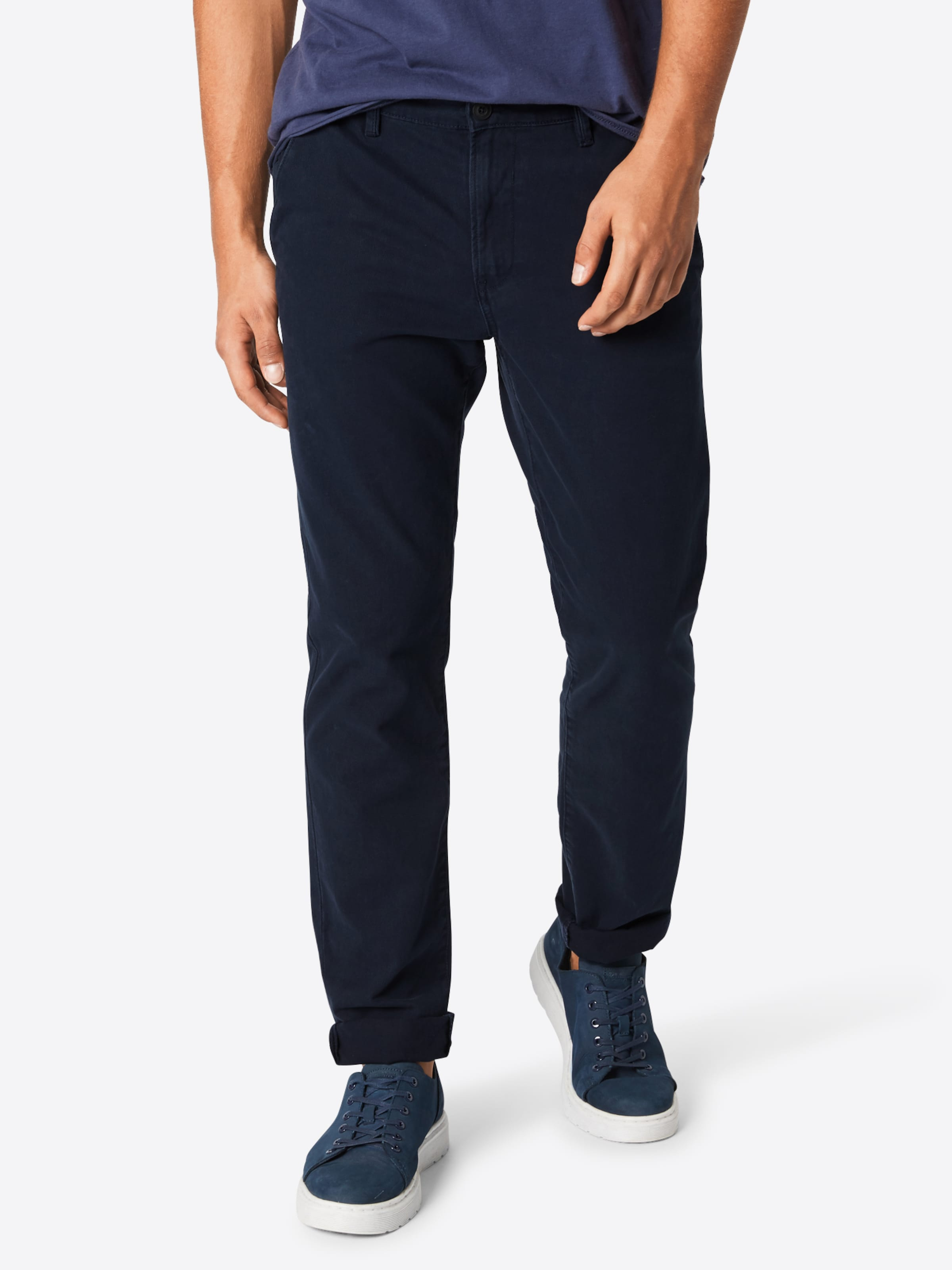 Tailor Bleu Foncé Pantalon Denim En Tom Chino clFK1J