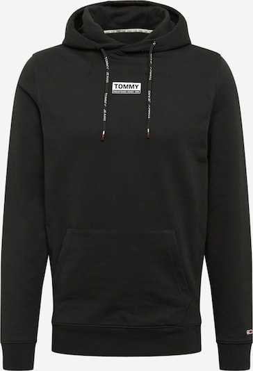 Tommy Jeans Mikina 'Essential' - čierna / biela, Produkt