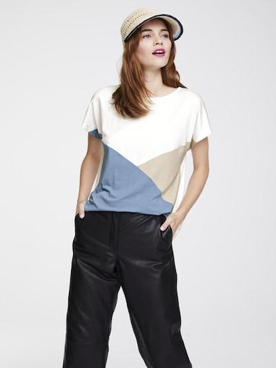heine Shirt in beige / blau / weiß: Frontalansicht