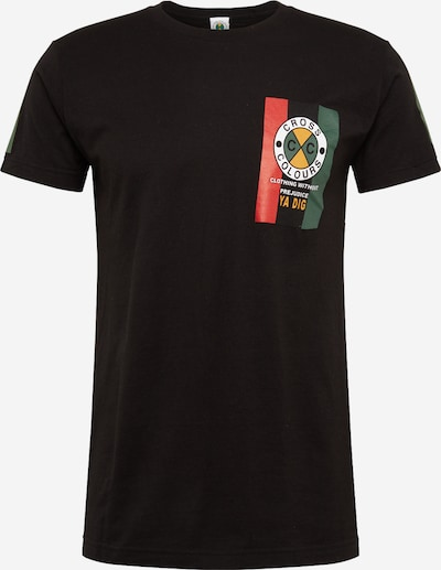 CROSS COLOURS T-Shirt 'Flag Logo' in mischfarben / schwarz, Produktansicht