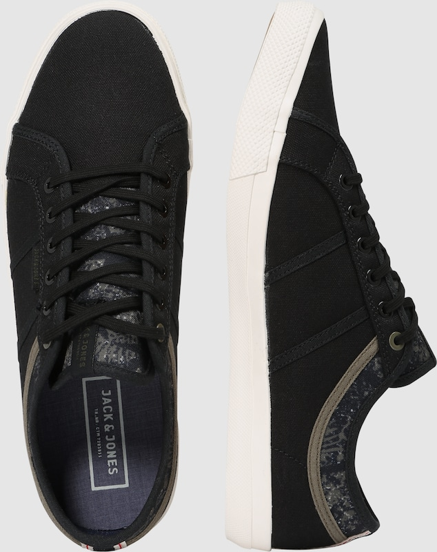 59aad5af57d JACK & JONES Sneakers laag 'JFWROSS PRINT MIX' in Antraciet | ABOUT YOU