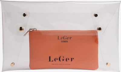 LeGer by Lena Gercke Clutch 'Elaine' in orange / transparent, Produktansicht