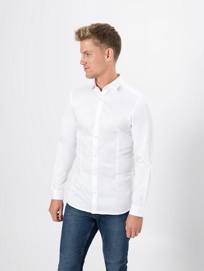 Dalykinio stiliaus marškiniai 'jjprPARMA SHIRT L/S NOOS' iš JACK & JONES , spalva - balta, Modelio vaizdas