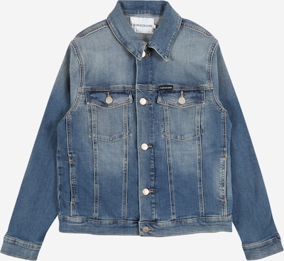 Calvin Klein Jeans Jeansjacke 'BOYS TRUCKER' in blue denim, Produktansicht
