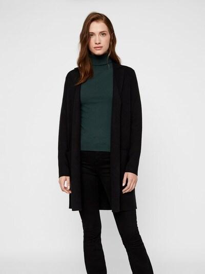 VERO MODA Manteau en tricot 'VMTASTY' en noir, Vue avec modèle