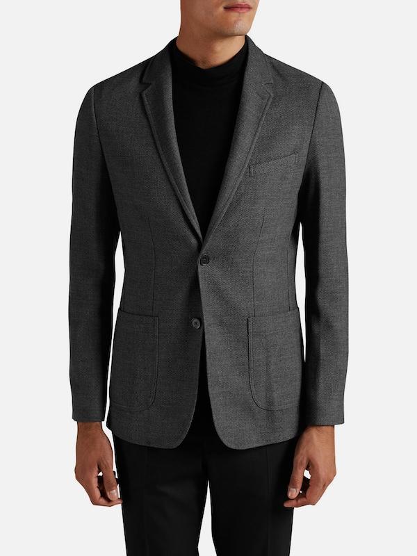 jack jones patchtaschen blazer in grau about you. Black Bedroom Furniture Sets. Home Design Ideas