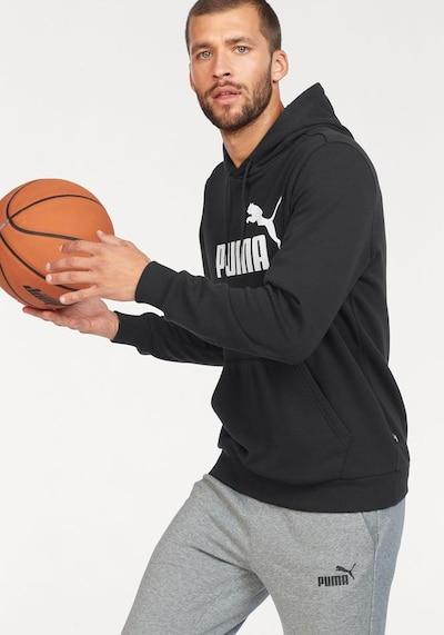 PUMA Sweatshirt 'Essential' in schwarz / weiß: Frontalansicht