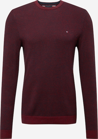 TOMMY HILFIGER Pullover in navy / bordeaux, Produktansicht