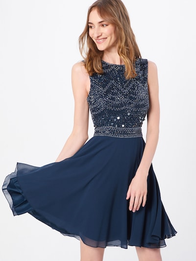 LACE & BEADS Cocktailkleid 'Collette Skater' in navy: Frontalansicht