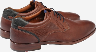 LLOYD Schuh in karamell / schwarz: Rückansicht