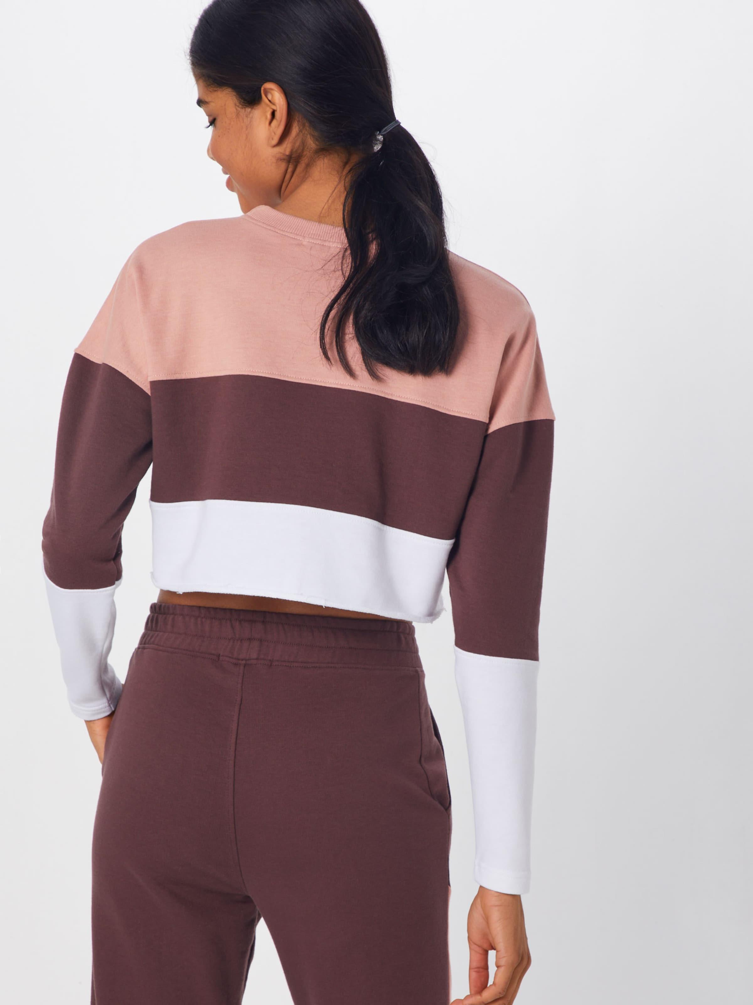 Sweatshirt In Sweatshirt Weiß In CamelBraun Missguided Missguided BxdeCro