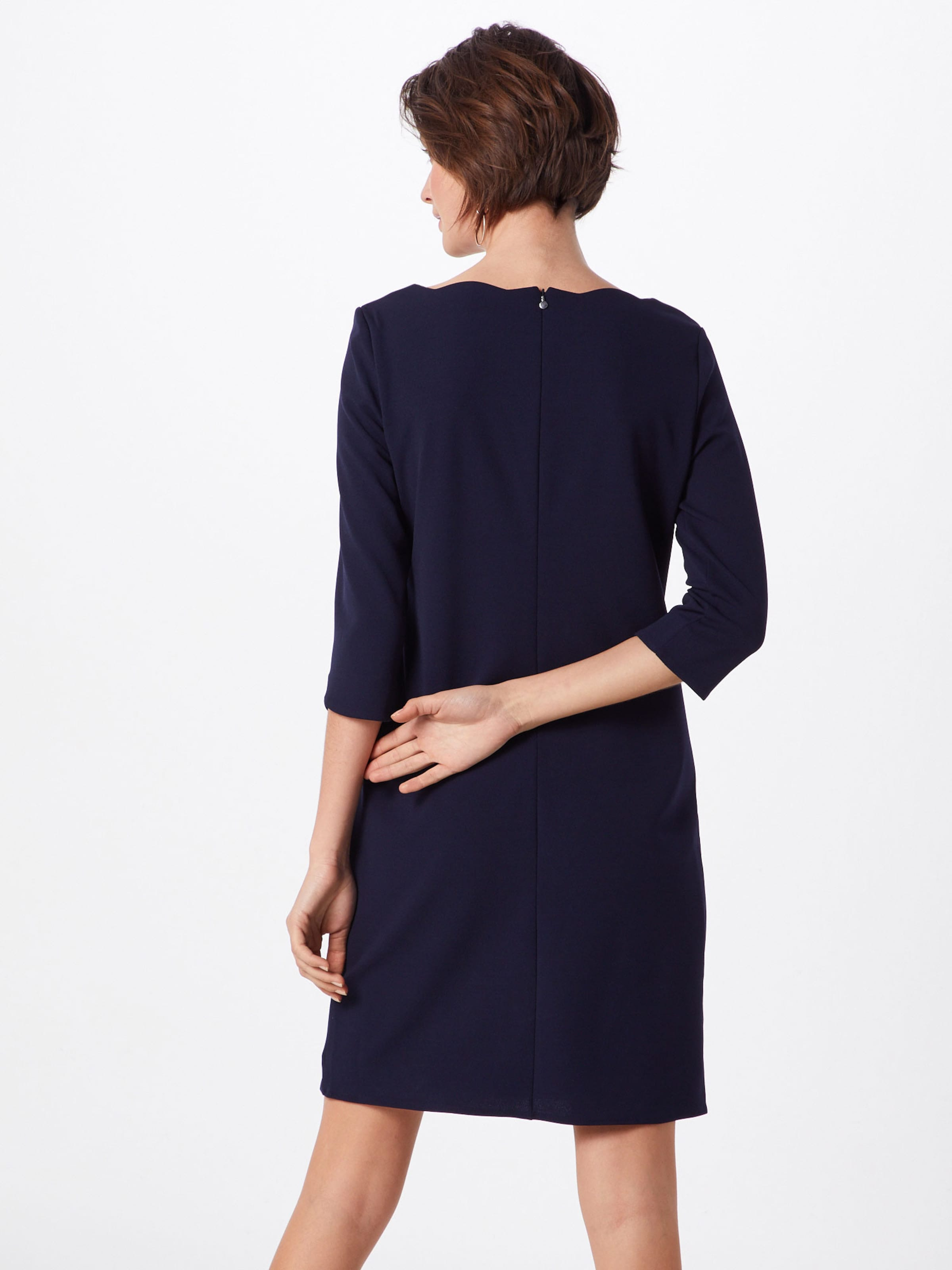 Bleu Nuit Black Robe Fourreau Kurz' Label En 'kleid S oliver A4Rj53L