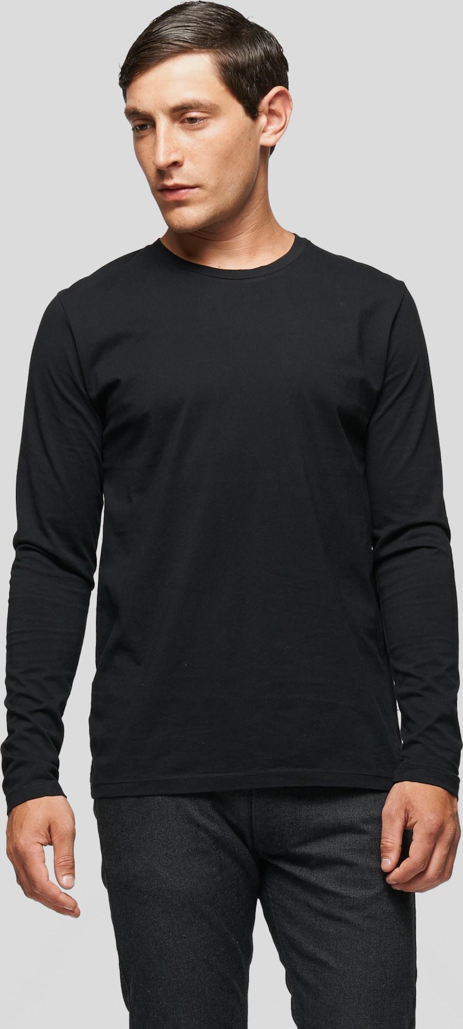 Samsoe samsoe langarmshirt 39 kronos 39 in schwarz about you for Design couchtisch kronos schwarz