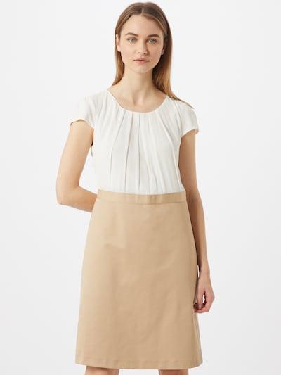 MORE & MORE Robe fourreau 'Deux-Pièce' en sable / blanc, Vue avec modèle