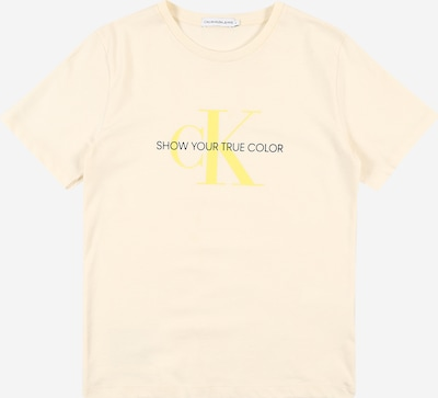 Calvin Klein Jeans T-Shirt en citron, Vue avec produit