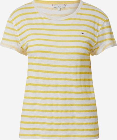TOMMY HILFIGER Shirt 'VIKKI' in de kleur Lichtgeel / Wit, Productweergave