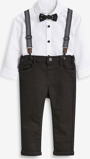 NEXT Langarmhemd + Hose in schwarz / weiß, Produktansicht