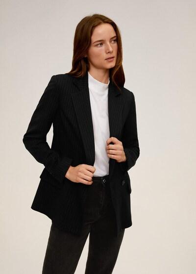 MANGO Blazer 'Charlot' in schwarz / weiß, Modelansicht