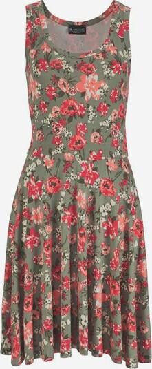 LAURA SCOTT Jerseykleid in khaki / himbeer / altrosa / rot, Produktansicht