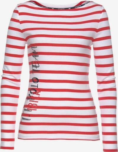 Tom Tailor Polo Team Langarmshirt in rot / schwarz / weiß, Produktansicht