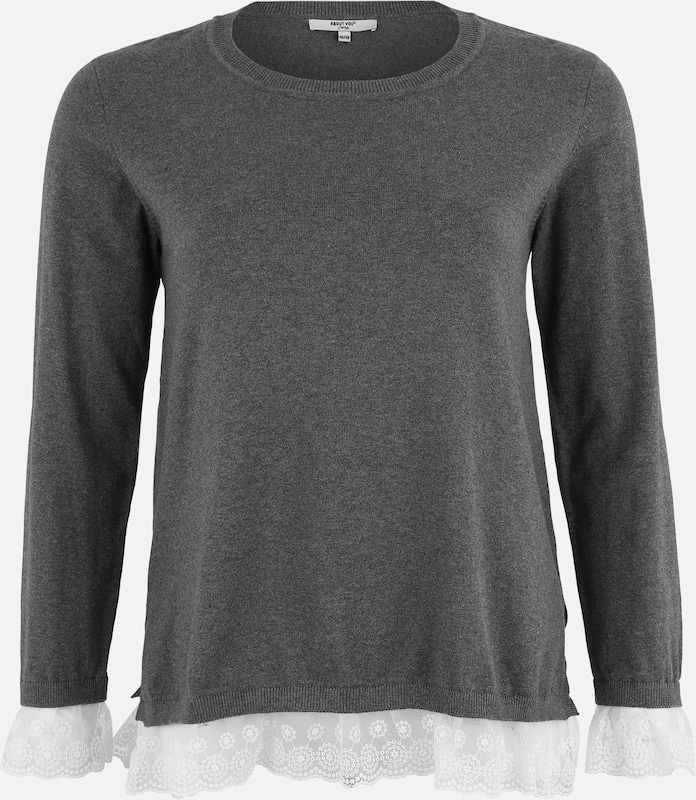 ABOUT YOU Curvy Pullover 'Enie' in grau, Produktansicht