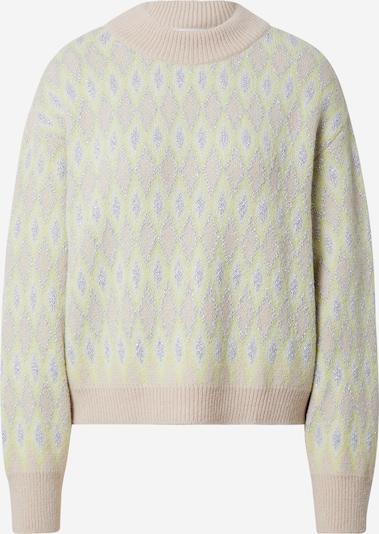 EDITED Pullover 'Pearl' in grün / lila, Produktansicht