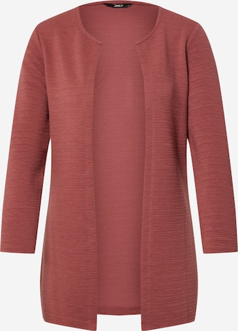 ONLY Strickjacke 'Leco' in Rot
