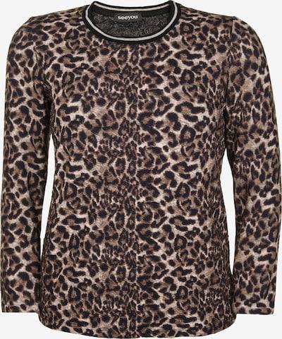 seeyou Shirt in de kleur Beige / Bruin / Gemengde kleuren, Productweergave