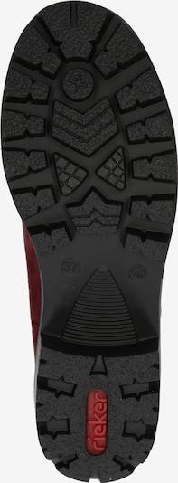 RIEKER Boots en rouge: Vue de dessous