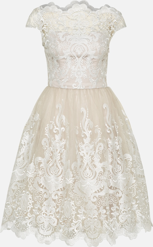 London 'chi Chi Robe De En Cocktail Heather' CrèmeBlanc 5qAcRjL34S