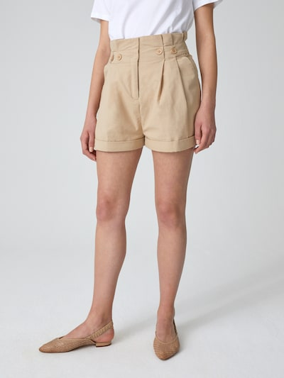 EDITED Shorts 'Caryl' in beige, Modelansicht