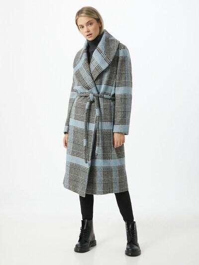 DRYKORN Mantel 'CRANBROOK' in hellblau / schwarz / weiß, Modelansicht