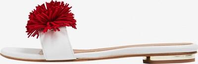DREIMASTER Sandales 'Maritim' en rouge / blanc: Vue de face