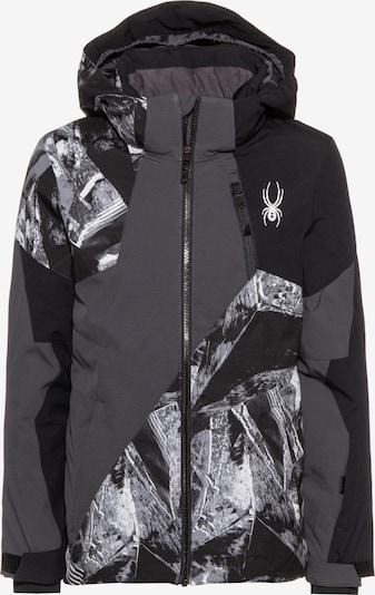 SPYDER Skijacke 'Ambush' in basaltgrau / schwarz / weiß, Produktansicht