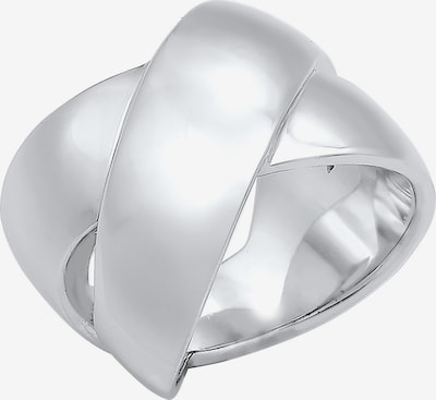 ELLI PREMIUM Ring Bandring in silber: Frontalansicht
