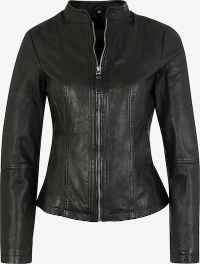 7ELEVEN Lederjacke Palermo mit kurzem Stehkragen in schwarz, Produktansicht