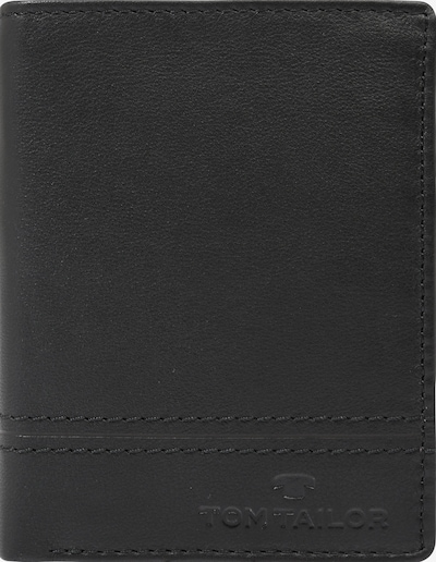 TOM TAILOR Geldbörse 'JERRIE hoch' in schwarz: Frontalansicht