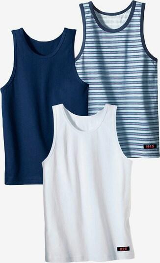 H.I.S Unterhemd (3 Stck.) in blau / weiß, Produktansicht