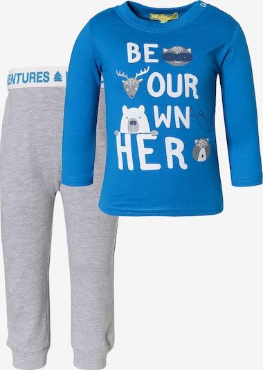 LEMON BERET Sweatshirt und Sweathose-Set in royalblau / graumeliert / weiß, Produktansicht