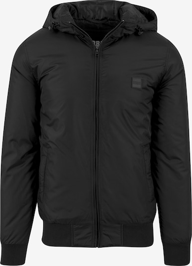Urban Classics Padded Windbreaker Jacket in schwarz: Frontalansicht