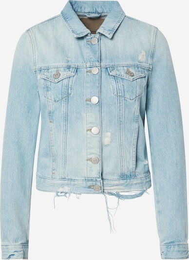 True Religion Jacke 'DENIM JACKET DESTROYED LIGHT BLUE' in blue denim, Produktansicht
