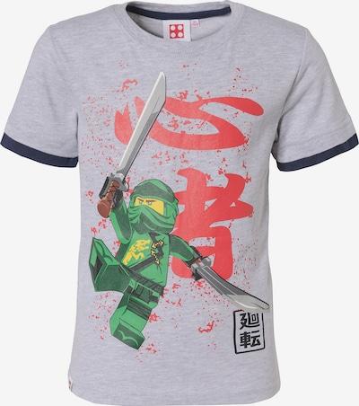 LEGO T-Shirt 'Ninjag' in grau / grün / rot, Produktansicht