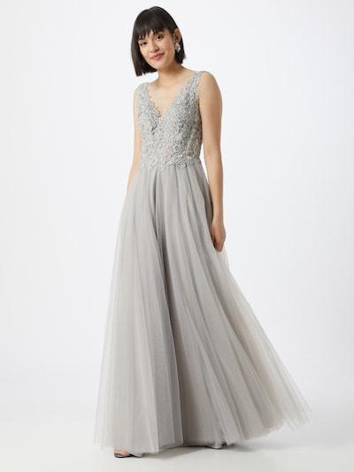 mascara Společenské šaty 'LACE EMB' - stříbrně šedá, Model/ka