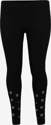 fekete Urban Classics Curvy Nadrág 'Ladies Eyelet Leggings': Elölnézet