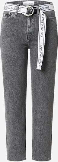 Calvin Klein Jeans Jeans 'CKJ 030 HIGH RISE STRAIGHT ANKLE' in schwarzmeliert, Produktansicht