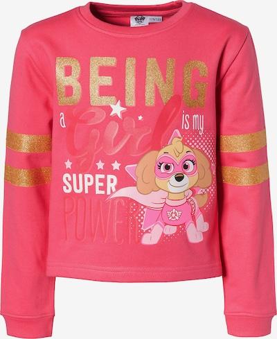 PAW Patrol Sweatshirt in gold / mischfarben / pitaya / rot, Produktansicht