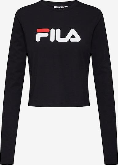 FILA Top 'MARCELINE Cropped Long Sleeved Shirt' in de kleur Rood / Zwart / Wit, Productweergave
